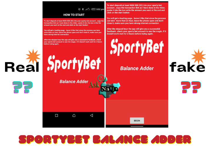 Is Sportybet balance adder real